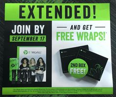 OMG...extended until Saturday!!! Get 2 boxes of wraps instead of 1!!!
