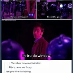 I'm so glad I'm not the only one who got that reference. Remember the episode Dalek from season one?<<<<<It was HILARIOUS