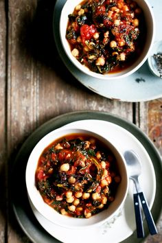 Winter Sweet Lemon, Kale, & Tomato Chickpea Stew