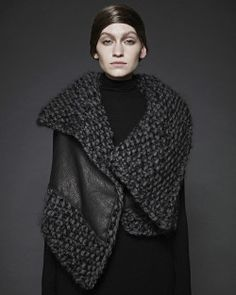 sungheebang:  We still love this vest #beautifultextures #sungheebang #archive #fw2012 #collection #knit #leather #vest