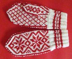 Selbu-Votter Knit Stranded, Swedish Style, Hooded Scarf, Crochet Mittens, Mitten Gloves, Knitting Patterns, Wool, Yarns, Fingerless Mittens