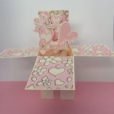 3-D, New Baby,Baby Shower,  Pop-Up, Box Card, Gift Card Holder by Overthetopcards on Etsy