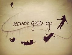 Never Grow Up - Peter Pan Sign: This would be cute for a kids room.