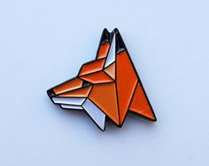 FOX Enamel Pin by camopins on Etsy Logos Retro, Bag Pins, Jacket Pins, Cool Pins, Hard Enamel Pin, Metal Pins, Pin And Patches, Up Girl, Pin Badges