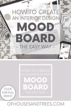Learn the easiest way to create a mood board for interior design, using something you likely already have - a Pinterest account! #moodboard #designboard #interiordesign Sustainable Design, Sustainable Living, Boho Living Room, Modern Boho, Modern House Design, Boards, Mood, Interior Design, Learning