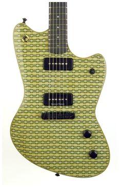 Hand Guitars 'Jago' Polymer Clay Top http://hand-guitars.com/node/79