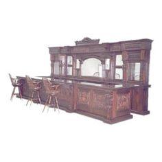 Large Mahogany Bar