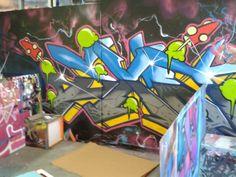 Picture taken at the old Zap Graffiti Studio. Good memories!