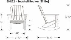 POLYWOOD | SHR22 - Adirondack Seashell Rocking Chair