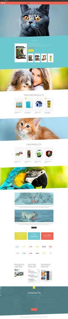 Pet Shop Responsive VirtueMart Template #52331