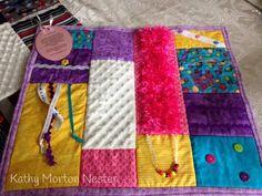 Woman's fidget quilt: