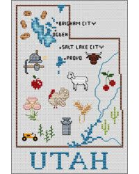 Map Of The USA Cross Stitch Patternroad Trip Crossstitching - Map of us mille silos
