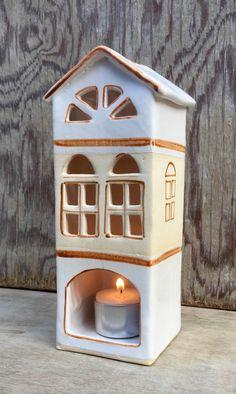 Keramický domeček na svíčku - velký - různé barvy :: Keramika Andreas Clay Houses, Ceramic Houses, Cement, Building A House, Petra, Outdoor Decor, Crafts, Home Decor, Waterfalls