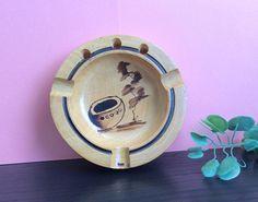 Ecuador Wooden Ashtray, Decorative Ashtray, Ecuador Souvenir, Collectible Folk Art, Small Dish, Trinket Bowl, Authentic Wooden Catch-all