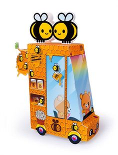 Free Printable Honey Food Truck Paper Toy | Dewmuffins