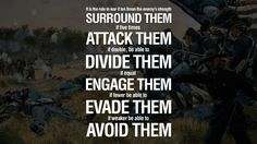 Know your enemy and know yourself and you can fight a hundred battles without disaster. sun tzu art of war quotes Civil War Quotes, Art Of War Quotes, Top Quotes, Wise Quotes, Quotes To Live By, Inspirational Quotes, Quotes About War, Godly Quotes, Meaningful Quotes