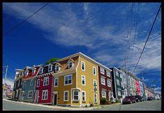 This photo from Newfoundland, Atlantic is titled 'Jelly Bean Row'. Newfoundland St Johns, Newfoundland Canada, Newfoundland And Labrador, Commonwealth, Atlantic Canada, Prince Edward Island, France, New Brunswick, Expo
