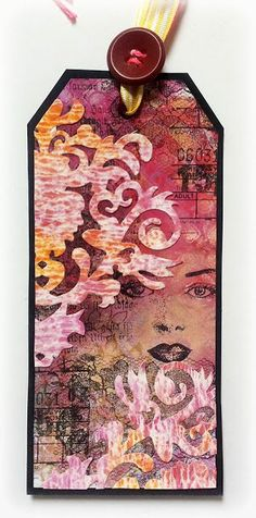 Susanne Rose writes on her blog: Today I'd like to share a mixed media tag with the gorgeous stamps from Rubber Dance and the Lace stamp from Designs by Ryn. I used stamps from the Collage Mix, the Collage Elements1 and the old book page by Rubber Dance. I love them so much, because they are absolutely versatile.
