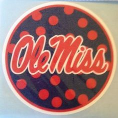 Ole Miss Polka Dot Circle Car Decal - Rebels Auto Window ... https://www.amazon.com/dp/B00WDHEK90/ref=cm_sw_r_pi_dp_x_HB8jybKYGJ8WN