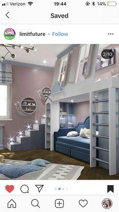 Best Indoor Garden Ideas for 2020 - Modern Bed For Girls Room, Cool Kids Bedrooms, Cute Bedroom Ideas, Room Ideas Bedroom, Awesome Bedrooms, Cool Rooms, Home Bedroom, Girl Room, Girls Bedroom