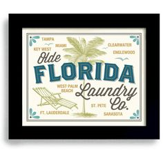 Florida Decor Laundry Room Decor Palm Tree Washing Machine Florida... ($20) ❤ liked on Polyvore featuring home, home decor, wall art, grey, home & living, home décor, wall décor, paper wall art, inspirational wall art and gray home decor