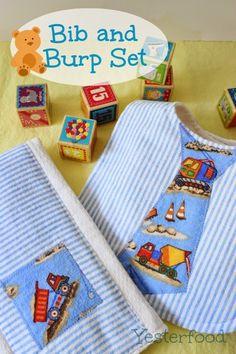 Yesterfood : Bib and Burp Cloth Set