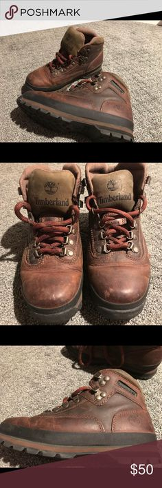Timberland Hiking Boots for women Size 8 Used 3 times but in pretty good shape! Dark brown and black Timberland Shoes Winter & Rain Boots