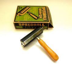 Vintage Speedball Brayer with Original Box // 4 Inch by JackpotJen, $15.50