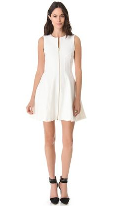 Theory Bonbi W Dress - simple white shift