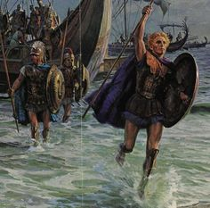 """Alexander lands in Asia at Troy. As he came ashore, he cast a spear; thus, symbolically, claiming Asia to be """"won by the spear"""". It was an ancient challenge; and it was now for the Persians to refute his claim to ownership."""