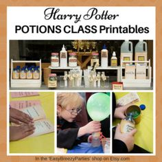 HARRY POTTER Potions Class Handbook and Labels - Potion making instructions included! Instant digital download.