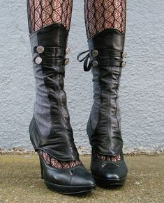 Hey, I found this really awesome Etsy listing at https://www.etsy.com/listing/86079058/spats-leather-and-herringbone-with