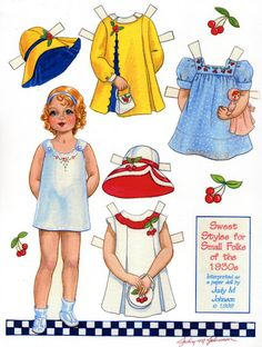 Judy Johnson paper doll cute girl