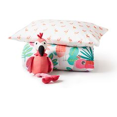 tropical treehouse: flamingo throw pillow