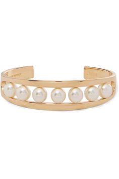 Chloé - Darcey Gold-tone Swarovski Pearl Cuff -
