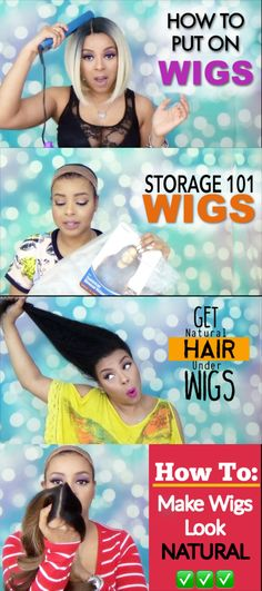 Finally, a series dedicated to how to wear wigs properly and comfortably for wig beginners and those with long hair