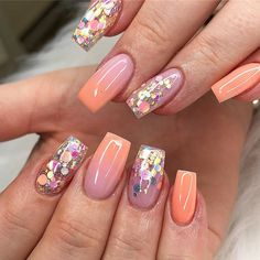 "4bce6fbfbd2 The Nail & Beauty Link on Instagram: ""#repost @simplybeauty_bridgend Peach  fizz 🍑 Products from @tnbl_uk Tnbl - Nail Tips Tnbl - It's a girl Tnbl ..."