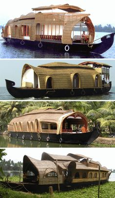 With as many comforts as a modern home, and a much more interesting address, house boat design has become something beautiful and breathtaking.