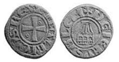 The Crusaders issued coins for the Kingdom of Jerusalem, as well as Jaffa, Ascalon and Akko. A Jerusalem silver denier denier, issued by Baldwin IV (1173-1185) pictures the Tower of David.