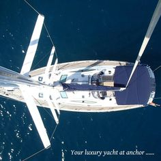 Your yacht at anchor. Sardinia crewed luxury yacht charter