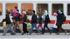 Refugees arrive at the central railway station in Passau, southern Germany. Germany, Sayings, Southern, Human Rights, Passau, Italy, Families, Lyrics, Deutsch