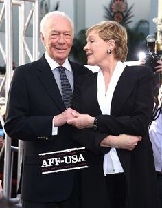 TCM FILM FESTIVAL (March 26, 2015) ~ Christopher Plummer & Julie Andrews on the red carpet for the festival's opening night screening of THE SOUND OF MUSIC for the movie's 50th anniversary. [Photo: AFF-USA photo agency]