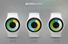 Aurora Watch by ZIIIRO tells time with colour.