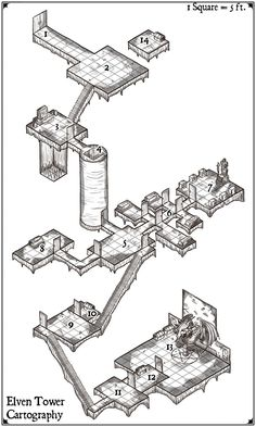 380fa6e312c ElvenTower presents an amazing isometric map of an ancient dungeon buried  for eons.