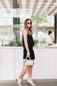 Studded Coach Bag, Little black dress