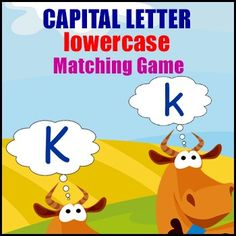 'Capital Letter Game' - Memory is a simple concentration game where students match upper case to their lower case equivalent. Phonics Words, Phonics Games, Letter Games, Word Games, Letter Matching, Matching Games, Concentration Games, Uppercase And Lowercase Letters, Game Cards