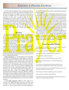 Prayer Journal Template | KEEPING A PRAYER JOURNAL