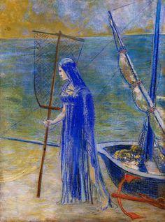 The Fisherwoman Posters & Prints by Odilon Redon