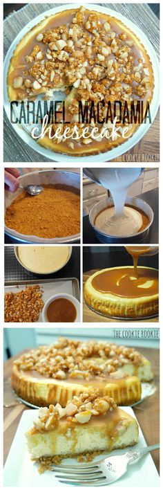CARAMEL MACADAMIA CHEESECAKE. This is my heaven!! So delicious. - The Cookie Rookie #dessert #recipe #foodblog