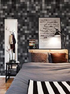 Estampa Adesiva Black Pixel Material: Vinil adesivo Acabamento: Brilho  - As estampas podem ser aplicados em superfícies planas sem porosidade e irregularidades como paredes, vidros, espelhos, azulejos, móveis, etc.